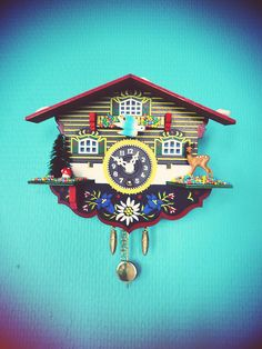 I had one a bit like this when I was a child - wonder what happened to it. The Napping House, Coo Coo Clock, Tick Tock Clock, Black Forest Germany, Cuckoo Clocks, Classic Clocks, Cool Clocks, Clock Art, Time Clock