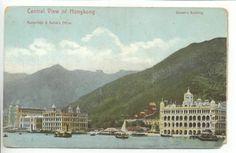 Hong Kong Central View of City Harbor 1905