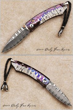 William Henry B04 Rock Ridge #37 of 100 Over All Length 4 5/8 in Blade Length 2 in Blade Material Wave ZDP Dama...