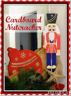 paint an over-sized Nutcracker on cardboard box cut-out from Just Paint It! #christmascraft #easypaintproject