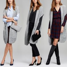 Layered to perfection, no matter how you wear it. Introducing Ann Taylor's Long Cardigan.