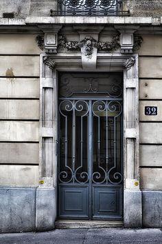 Paris Montmartre Door - Faded Blue Georgia Fowler