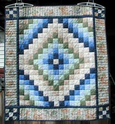 Easy Bargello quilt. Must attempt...someday.