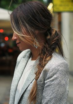 Cute messy braid for work. Sincerely Jules.