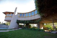 David Wright home. Phoenix Arizona. 1950. Usonian. Frank Lloyd Wright