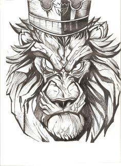 Lion king, lion, fighter, sketch, painting, sketching, sketchbook, pen, marker