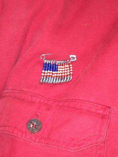 Beaded Flag Pins for Veterans - 2017 Teen Programs, Flag Pins, Pride, Jackets, Fashion, Down Jackets, Moda, Fashion Styles, Jacket
