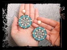 * Orecchini EMMA * Tutorial modulo ciondolo - superduo rocailles cristal...