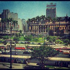 Vale do Anhangabau in 1965 (Sao Paulo/Brazil)