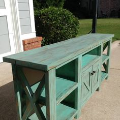 Check out this member's build on RYOBI Nation. Check out this member's build on RYOBI Nation. Easy Woodworking Projects, Woodworking Plans, Rustic Media Console, Wood Projects For Kids, Project Ideas, Diy Tv Stand, Diy Farmhouse Table, Built In Bookcase, Diy Table