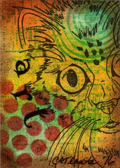 Artist Trading Card (ATC) Art by CATlanta