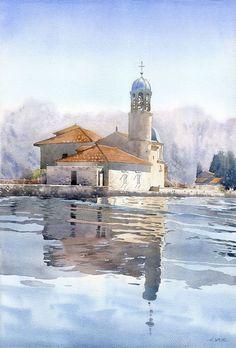 Grzegorz Wróbel - Watercolors / Akwarele  Wakacyjne klimaty / Summertime watercolour  40x60 cm