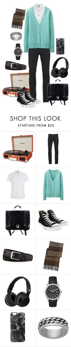 """Sage Adams"" by lunar-exorcism ❤ liked on Polyvore featuring Dot & Bo, Paul Smith, Topman, Uniqlo, Converse, Neiman Marcus, BLACK BROWN 1826, Skullcandy, Timex and Casetify"