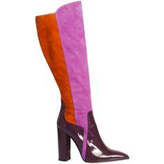 De Siena Celia Multicolor Suede Knee High Boots