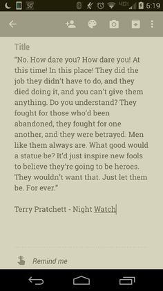 One of my favourite Terry Pratchett books Book Quotes, Me Quotes, Qoutes, Terry Pratchett Discworld, Guide To The Galaxy, Rhyme And Reason, Writing Prompts, Book Covers, Warriors