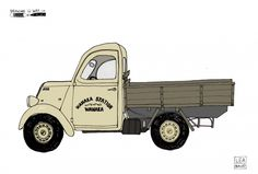 A cool artist impression of the Rippon Truck that awaits visitors to the vineyard. Map Maker, More Fun, Tractors, Monster Trucks, Portrait, Drawings, Illustration, Artist, Vineyard