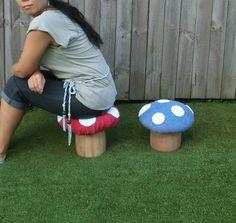 Wooden Mushroom / Toadstool Chair / Stool / by WoodrockTurning, $52.00
