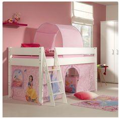Slapen en spelen wordt nóg leuker in deze #Disney #Princess #halfhoogslaper! Maak de dromen van je kleine prinses waar in een schitterend #prinsessenbed! Bunk Beds, Loft, Furniture, Home Decor, Decoration Home, Loft Beds, Room Decor, Lofts, Home Furnishings