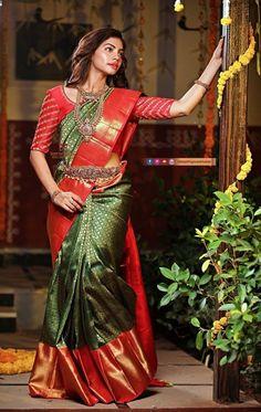 Cutwork Blouse Designs, Saree Blouse Neck Designs, Fancy Blouse Designs, Bridal Blouse Designs, Gold Designs, Kanjivaram Sarees Silk, Mysore Silk Saree, Bridal Sarees South Indian, Latest Silk Sarees