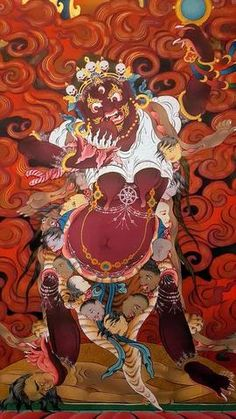 """Résultat de recherche d'images pour """"fresques murales temple de lukhang"""" Tibet, Temple, Images, Anime, Art, Mural Wall, Search, Art Background, Temples"""