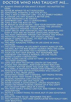 What Doctor Who Has Taught Me