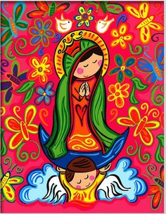 Our Lady of Guadalupe – Maflo´s World Catholic Art, Religious Art, Madonna, Verge, Holy Mary, Blessed Virgin Mary, Mexican Art, Blessed Mother, Mother Mary