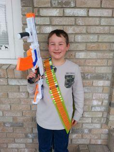 Nerf Gun Dart Holder Rambo Bandolier by SewDangKewl on Etsy