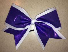 3-inch grosgrain & metallic bow by Lucky Girl Cheer Bows.