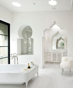 moroccan inspired bathroom