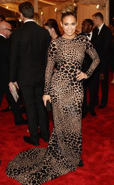 pAnimal magnetism! J.Lo looks flawless in a Michael Kors gown./p