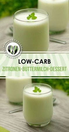 The lemon buttermilk dessert is low-carb and gluten-free and delicious. Desserts Thermomix, Low Carb Desserts, Healthy Desserts, Low Carb Recipes, Cooking Recipes, Healthy Recipes, Low Carb Chili, Vegan Snacks, Healthy Treats