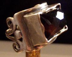 Ring Handmade Vintage Israel Sterling Silver by StoneForestJewels, $48.00