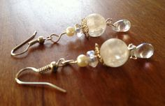 Cracked Crystal with Tear Drop Crystal Earring by TripIntoLight, $13.00