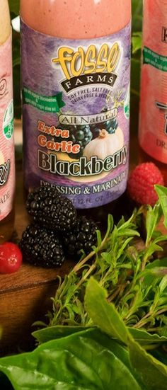 Our fresh #garlic #blackberry dressing. See what you can cook with it!