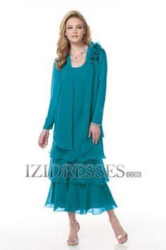 Sheath/Column Straps Chiffon Mother of the Bride Dress - IZIDRESSES.COM