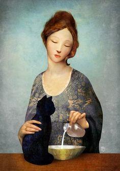 Absyntowa Wróżka: Christian Schloe - romantyczny surrealizm (artysta tygodnia)