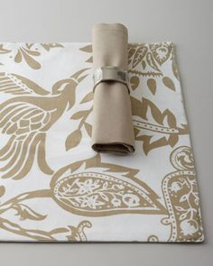 """""""Avery"""" Palampore Table Linens at Horchow.  I would but about 6 to 10 of these to make pilllow or set covers # Horchow"""