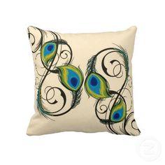 Peacocks Feather Dance Decorative Pillows