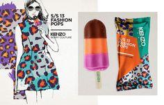 kenzo, graphic, food, fashion pop, inspir, fashionpop, brand, packag design, popsicle packaging