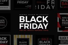 Black Friday Social Media Banner by MinimalStudioCo on @creativemarket