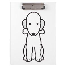 Bedlington Terrier Dog Cartoon Clipboard
