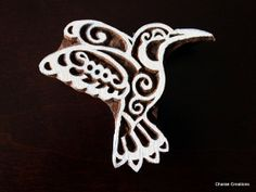 Hand Carved Wood Block Stamp Humming Bird by charancreations, $21.00