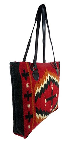 Large Tote Bag, Women's Mayan Hand-woven Wool Tote Purse (Fiero N)