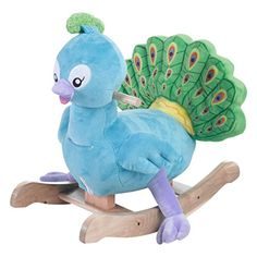 Rockabye Poppy Peacock Rocker Ride On Rockabye-- baby girl nursery