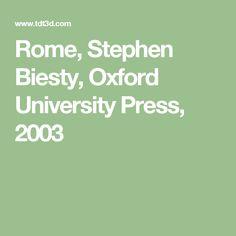 Rome, Stephen Biesty, Oxford University Press, 2003