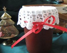 decorate food canning jars with doilies - Google Search