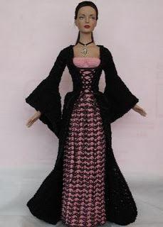 Barbie princesa Medieval | Crocheart