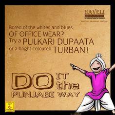 Try a or a bright coloured Desi Humor, Desi Memes, Shayari Funny, Punjabi Quotes, Namaste, Laughter, Blues, Encouragement, Turban
