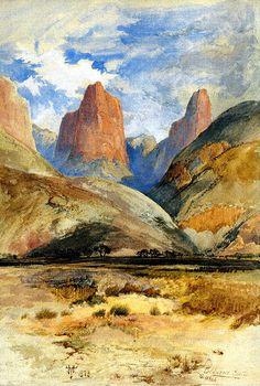 Colburn's Butte, South Utah, 1873 | Thomas Moran (American, born England, 1837–1926)