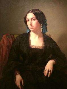 """(1852) Madame Maison. by Hippolyte Flandrin. Museums of Paris. """
